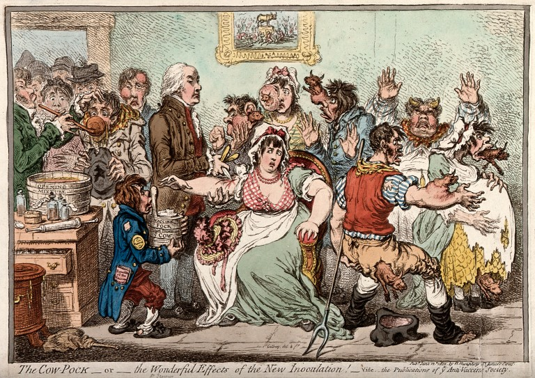 V0011069 Edward Jenner vaccinating patients against smallpox