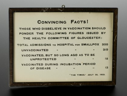 L0057953 Framed poster advocating vaccination against smallpox, Engla