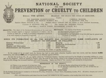 Appeal for National Society For The Prevention Of Cruelty To Children