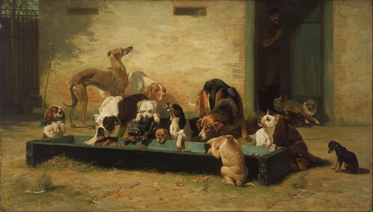 1280px-John_Charles_Dollman_-_Table_d'Hote_at_a_Dogs'_Home_-_Google_Art_Project